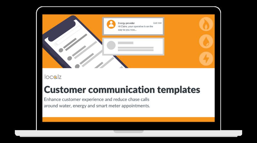 Customer comm templates for utilities