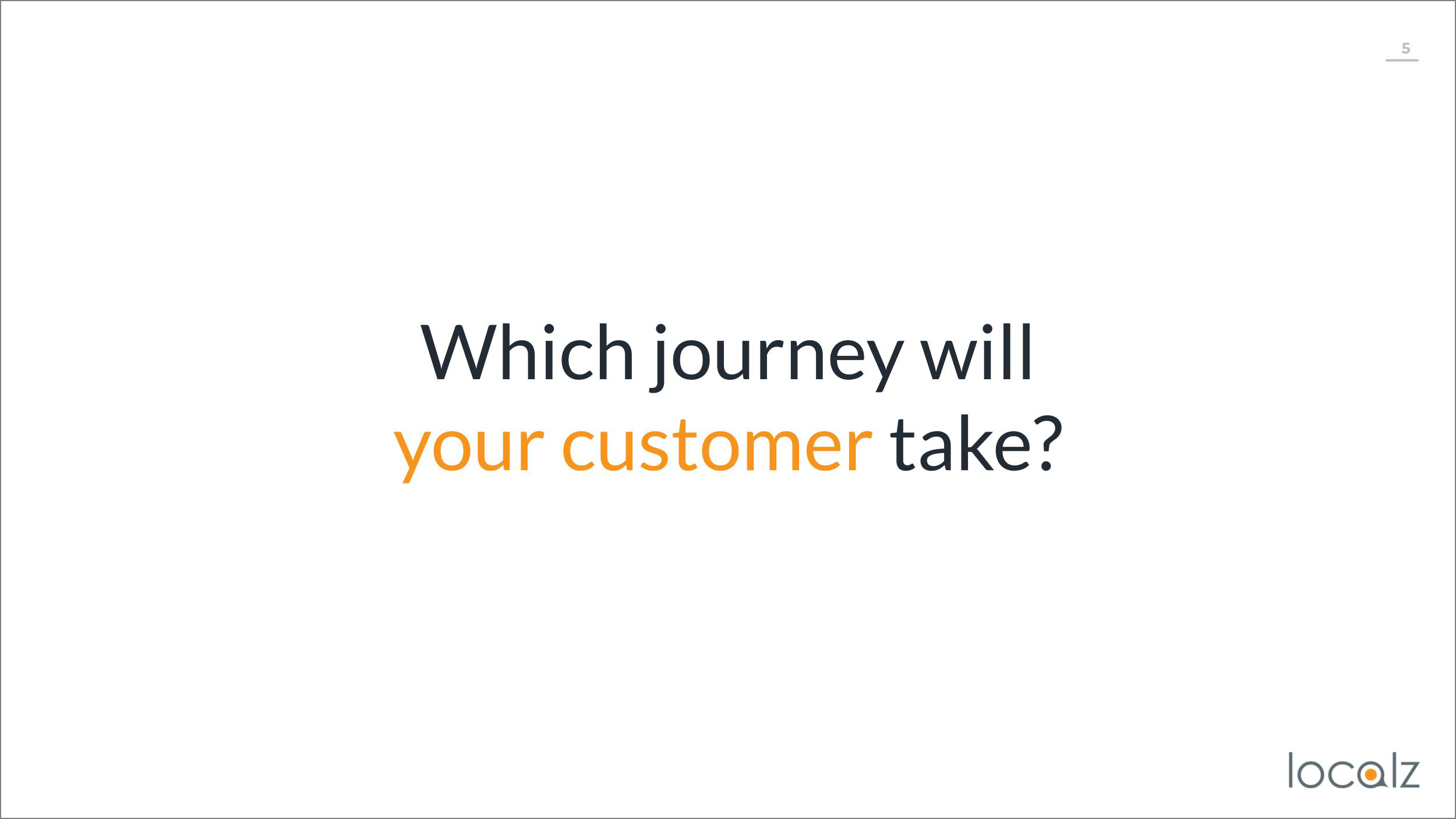 Which journey will your customer take?
