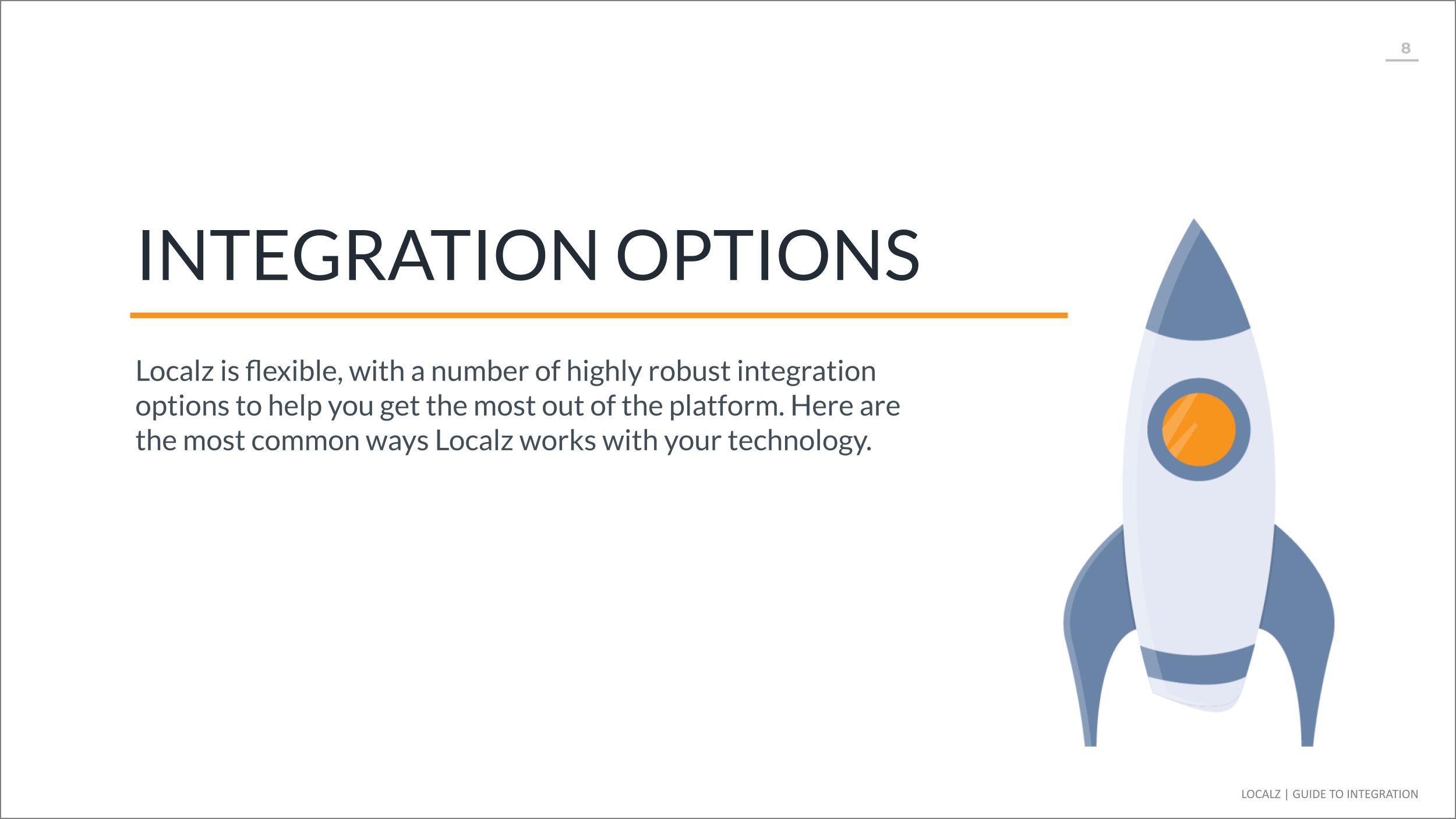 Localz integration options